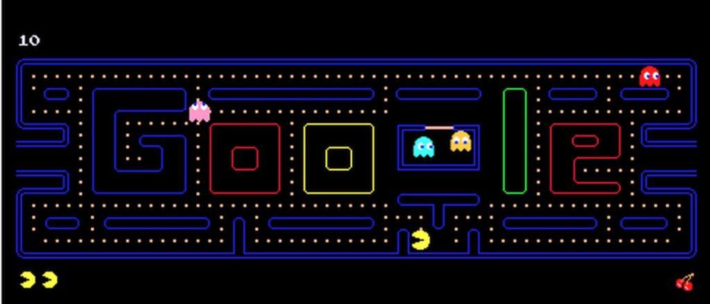 game google doodle pac man